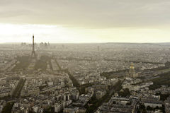 Eiffel tower in Paris at atmospheric dusk Royalty Free Stock Photography