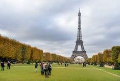 Eiffel tower Paris autumn colors Stock Photography