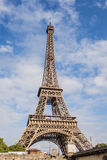 Eiffel Tower. Paris, the beautiful view of the Eiffel Tower on a summer day Royalty Free Stock Image