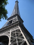 Eiffel tower in Paris with blue sky Stock Photos