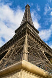 Eiffel Tower - Paris. Eiffel tower in Paris. Blue sky on background stock photo