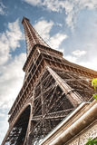 Eiffel tower in Paris on blue sky background Royalty Free Stock Image