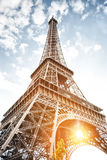 Eiffel tower in Paris on blue sky background Royalty Free Stock Images