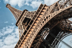 Eiffel tower in Paris on blue sky background Stock Photography
