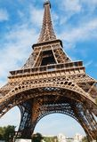 Eiffel Tower in Paris on blue sky Stock Photography
