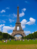 Eiffel Tower. The Eiffel Tower in Paris from Champs de Mars Stock Photos
