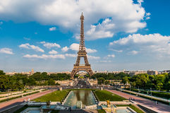 The eiffel tower paris city France Royalty Free Stock Image