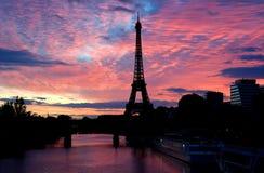 Eiffel tower, paris city, france. Eiffel tower landmark of paris city in france. famous Landmark of paris. Sunset / Sunrise sky view for advertising purposes royalty free stock photos