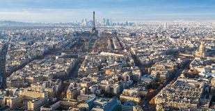 Eiffel Tower and Paris city in winter Stock Photo