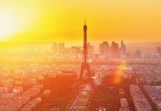Eiffel Tower and Paris cityscape Royalty Free Stock Photos