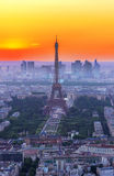 Eiffel Tower and Paris cityscape Stock Image