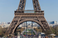 Eiffel Tower. Paris cityscape. France, Europe. Eiffel Tower landmark, view from Trocadero. Paris cityscape. France, Europe Royalty Free Stock Photography
