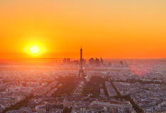 Eiffel Tower and Paris cityscape Royalty Free Stock Photo