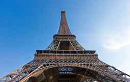 Wideangle View of Eiffel Tower Stock Image