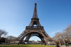 Eiffel Tower with Park View Stock Photo