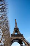 Eiffel Tower with Blue Sky Royalty Free Stock Photo