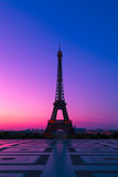 The  Eiffel Tower in Paris at Dawn Royalty Free Stock Image