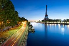 Eiffel tower, Paris, at Dusk Stock Images