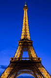The Eiffel Tower in Paris at Dusk Royalty Free Stock Photos