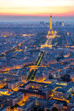 Eiffel Tower Paris Dusk Stock Images