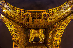 Eiffel Tower Paris Dusk Royalty Free Stock Photography