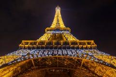 Eiffel Tower Paris Dusk Stock Photography