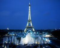 The Eiffel Tower, Paris. Royalty Free Stock Photo