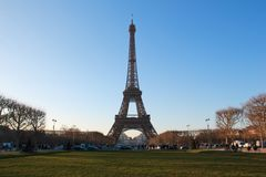 Eiffel Tower in Paris France Stock Photo
