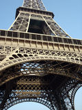Eiffel Tower (Paris/France). First and second floor (with the famous restaurants Royalty Free Stock Image