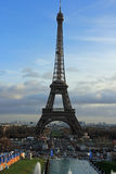Eiffel Tower in Paris, France. Built in 1889, it has become both a global cultural icon of France and one of the most recognizable structures in the world. The Royalty Free Stock Photo