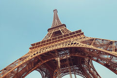 The Eiffel Tower, Paris - France Stock Photo