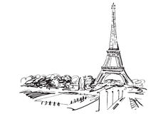 Eiffel Tower. Paris, France. Royalty Free Stock Images