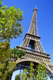 The Eiffel Tower in Paris, France Stock Photography