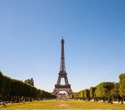 Eiffel Tower in Paris, France. Eiffel Tower in Paris on a clear day Stock Images