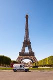 Eiffel Tower in Paris, France. Eiffel Tower in Paris on a clear day royalty free stock photos