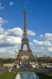 Eiffel Tower, Paris, France. Spring photograph of the Eiffel Tower from Palais de Chaillot Stock Images