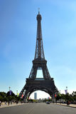 Eiffel Tower in Paris France. Eiffel Tower against a bright blue sky in Paris France Stock Images