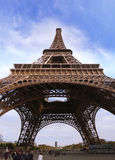 Eiffel Tower of Paris in France. Stock Photo