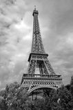 Eiffel tower. In Paris,France.Black and white picture Royalty Free Stock Photography