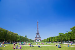 Eiffel Tower, Paris, France. Champ de Mars Royalty Free Stock Photography