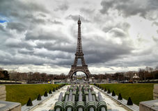 Eiffel tower in Paris, France Stock Photos