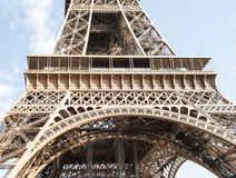 Eiffel Tower in Paris France. Detail of iron construction Royalty Free Stock Image