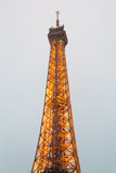 Eiffel Tower, Paris,France  in evening dusk. Royalty Free Stock Photos