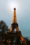 Eiffel Tower, Paris,France  in evening dusk. Stock Photos