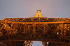 Eiffel Tower, Paris,France  in evening dusk. Stock Images