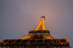 Eiffel Tower, Paris,France  in evening dusk. Stock Photography