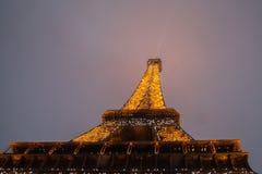 Eiffel Tower, Paris,France  in evening dusk. Stock Photography