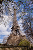 Eiffel Tower in Paris France, Famous Tourism Landmark Stock Photos