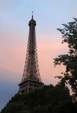 Eiffel tower. Paris,France - July 8th 2014: picture of Eiffel tower by dusk Stock Photo