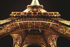 Eiffel Tower, Paris, France at night Stock Photos